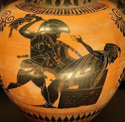 Priam's death